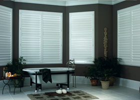 Bathroom Windows with Shutters